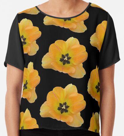 ein gelber Blütentraum, Tulpe, Tulpen Chiffontop für Frauen