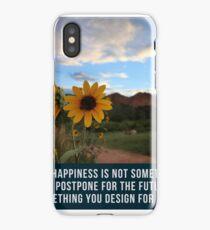 Flower Quotation (Jim Rohn) iPhone Case