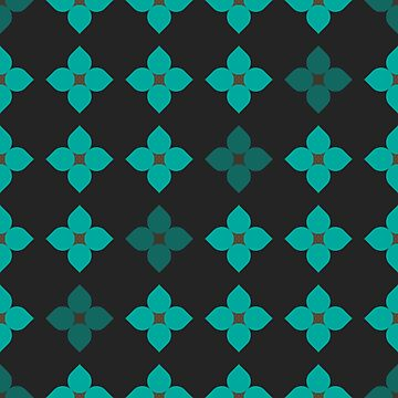 Blue Flower Repeating Pattern  by Rosenburg