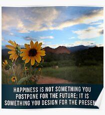 Flower Quotation (Jim Rohn) Poster