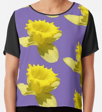 Narzisse - ein gelber Blütentraum Chiffontop für Frauen
