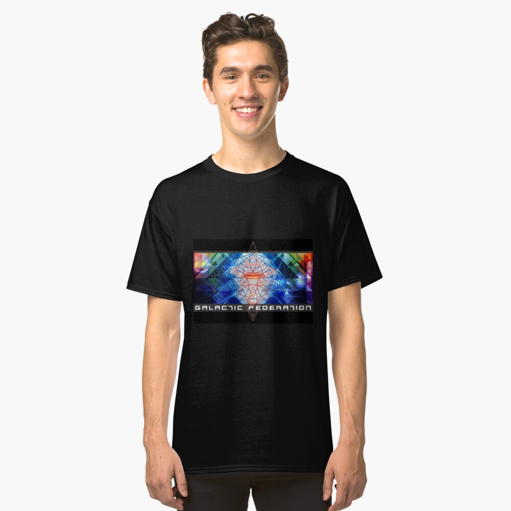 Galactic Federation of Light - Sananda Classic T-Shirt Front