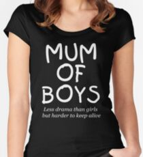 Mum of Boys  Women's Fitted Scoop T-Shirt
