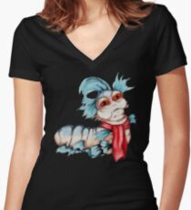 Labyrinth Worm Women's Fitted V-Neck T-Shirt