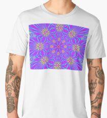 Golden Morning Neon Double Kaleidoscope Men's Premium T-Shirt