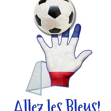 Allez les Bleus! French Sports Classico Match Tshirt by transferarts