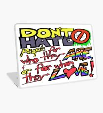Don't Hate (laptop skin, clear background) Laptop Skin
