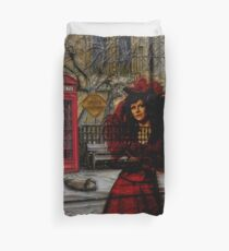 Ghosts in London Duvet Cover