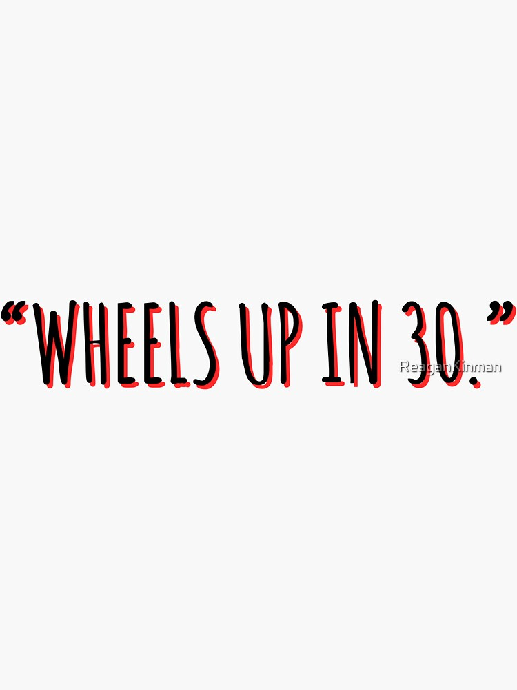 Wheels Up in 30- Criminal Minds Sticker by ReaganKinman