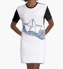 Schiff – dunkelblau T-Shirt Kleid