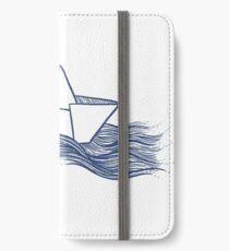 Schiff – dunkelblau iPhone Flip-Case/Hülle/Skin