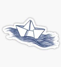 Schiff – dunkelblau Sticker