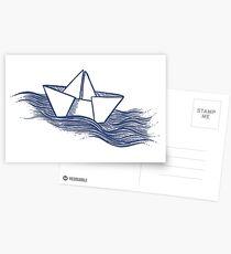 Schiff – dunkelblau Postkarten