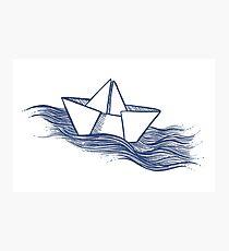 Schiff – dunkelblau Fotodruck