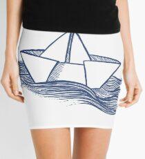 Schiff – dunkelblau Minirock