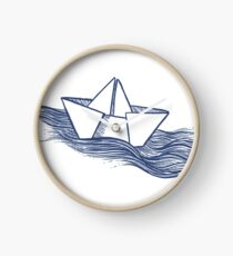 Schiff – dunkelblau Uhr