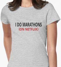I Do Marathons (On Netflix) Women's Fitted T-Shirt