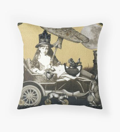 Steampunk Alice Throw Pillow