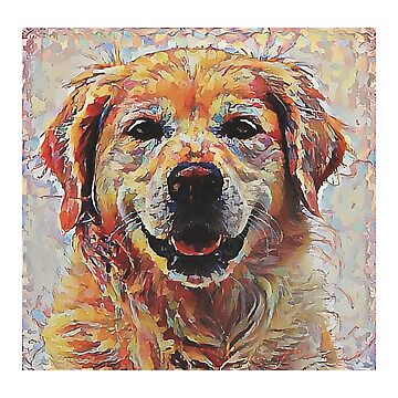 Golden Retriever - A Portrait in Oil by Chunga