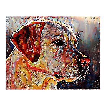Yellow Lab - Labrador Retriever: A Portrait in Oil by Chunga