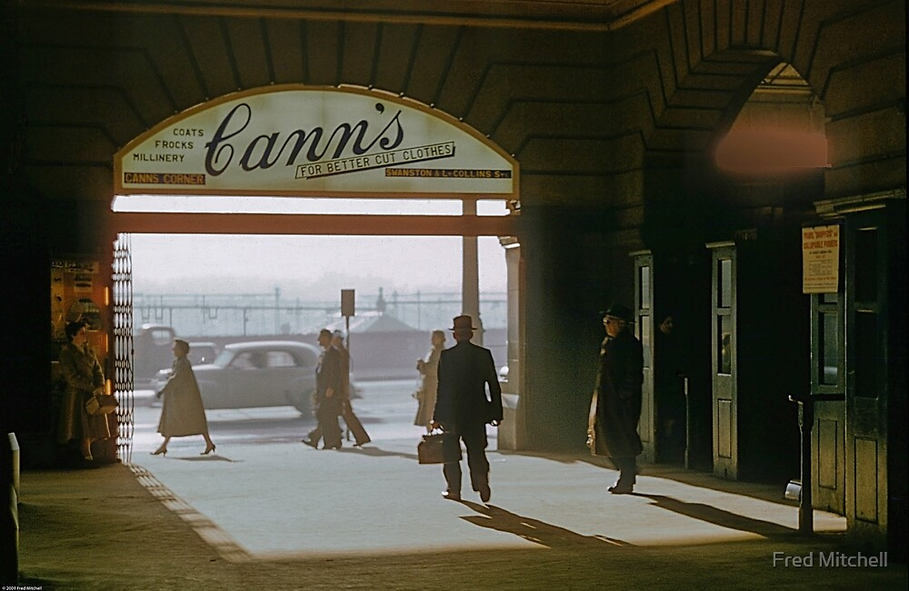 Canns Flinders Street Station 19570103 0036 by Fred Mitchell
