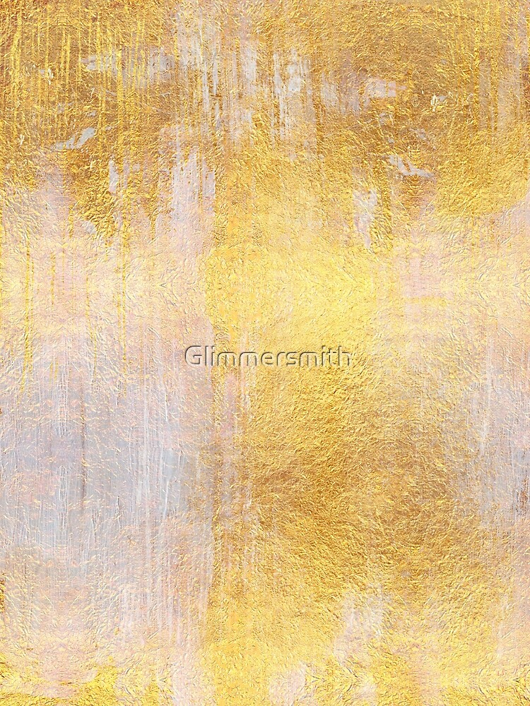 Iridescent abstract non objective golden painting by Glimmersmith