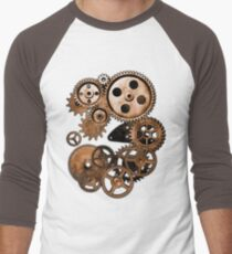 Steampunk Gears Men's Baseball ¾ T-Shirt