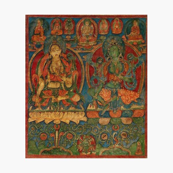 The White Tara and The Green Tara Photographic Print