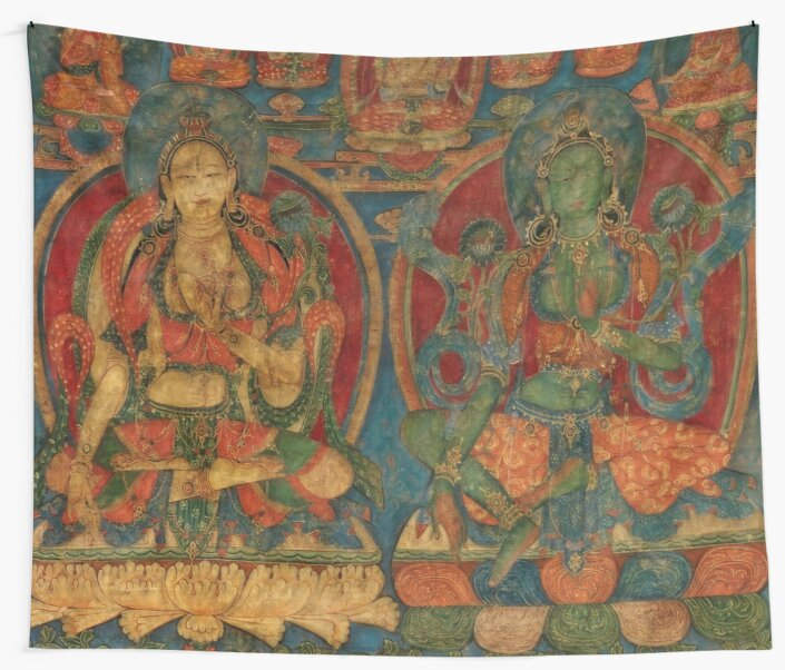 The White Tara and The Green Tara by LuciaS