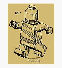 Lego Man Minifigur Patent Bild Fotodruck