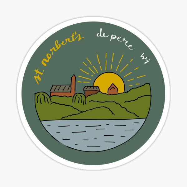 St Norbert College from across the river Sticker