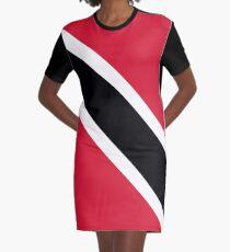 Trinidad & Tobago Flag Graphic T-Shirt Dress