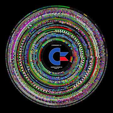 Commodore 64 Marble Madness Disk Visualization Clock by RunStopRestore