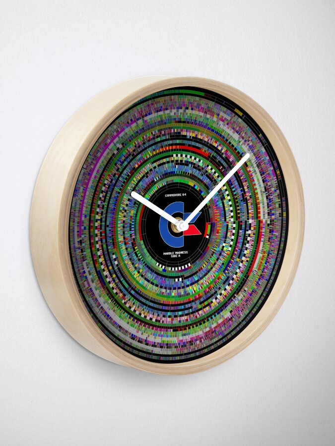 Alternate view of Commodore 64 Marble Madness Disk Visualization Clock Clock