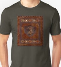 Hand-Tooled Leather Medieval Book Cover Unisex T-Shirt