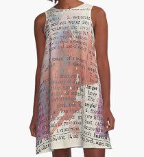 Dictionary A-Line Dress
