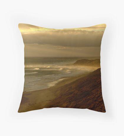 Sunburst 13th Beach,Bellarine Peninsula Throw Pillow
