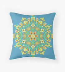 Multicolored  Ethnic Floral Kaleidoscope Floor Pillow
