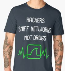 Hackers Sniff Networks Cyber Security Fun T-shirt Men's Premium T-Shirt