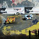 Super Car Art Porsche cars at Rennsport Reunion V  Laguna Seca Raceway by Photoart4U