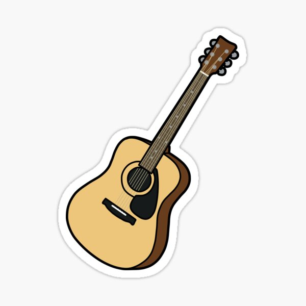 acoustic guitar Sticker