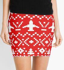 Ugly Christmas Sweater - Airplane / Pilot  Mini Skirt