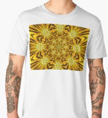 Golden Morning Double Kaleidoscope Neon Yellow Men's Premium T-Shirt