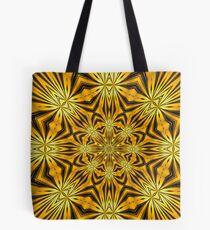 Golden Morning Double Kaleidoscope Neon Yellow Tote Bag