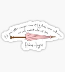 Rubeus Hagrid Wand Quote Sticker