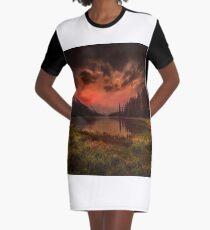 Maligne Lake, Canada Graphic T-Shirt Dress