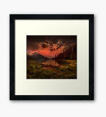 Maligne Lake, Canada Framed Print
