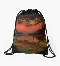 Maligne Lake, Canada Drawstring Bag