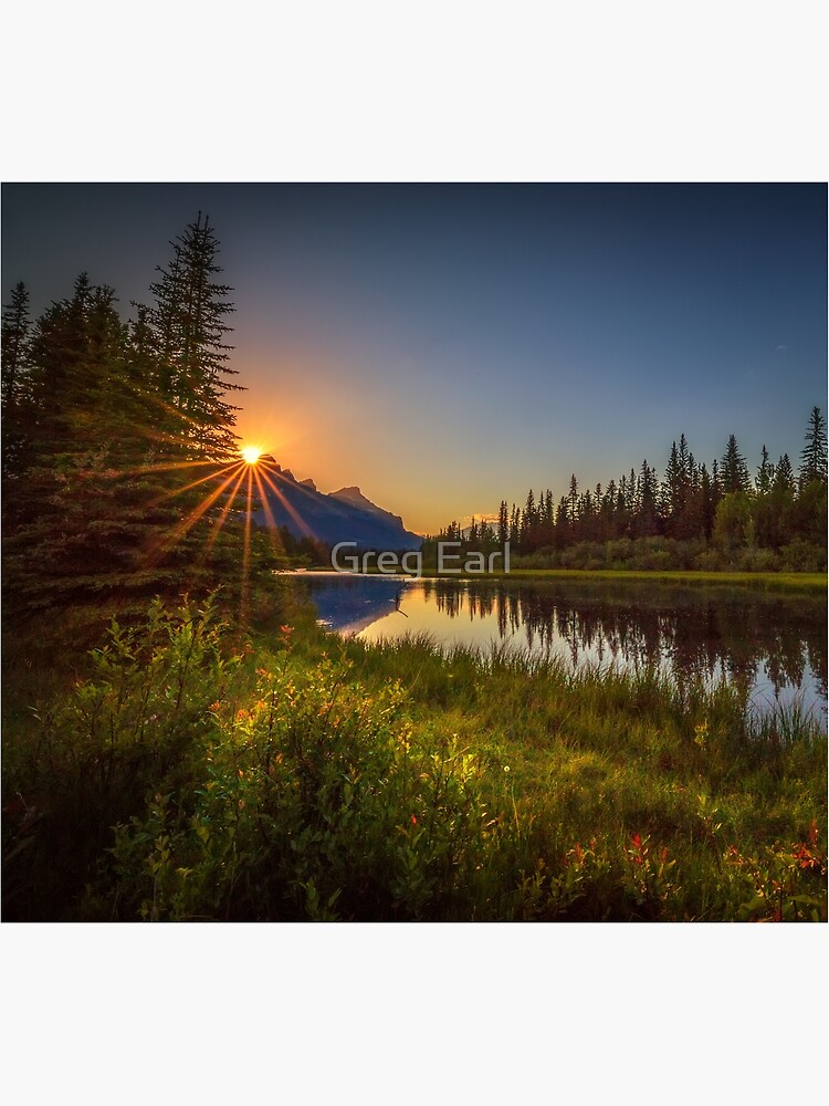 Bow River Setting Sun by GregEarl