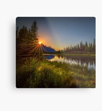 Bow River Setting Sun Metal Print
